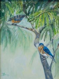 Mimosa Lovesong by Lee Mims oil painting