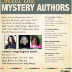 """Meet the Mystery Authors"" on Saturday, March 12 at 11:00 am"